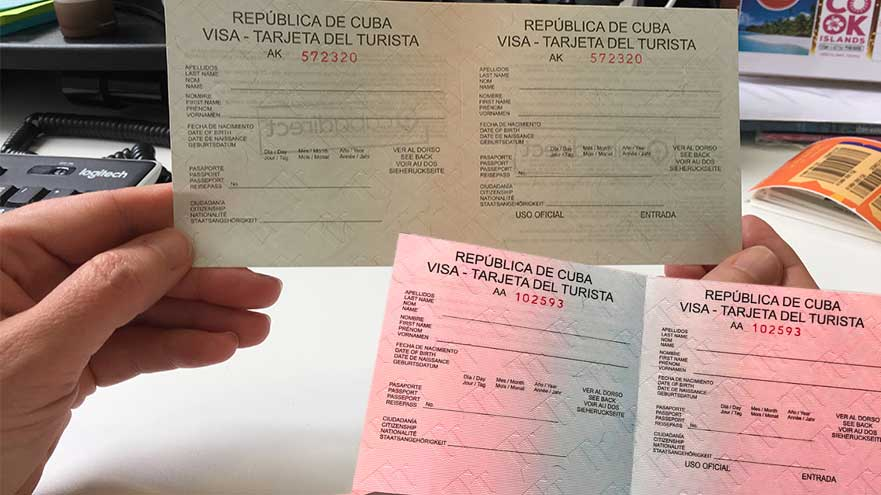 Cuba Tourist Cards Pink Or Green Slips What S The Right One For Me Visa Cuba